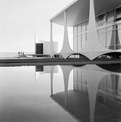 Lias Myrrah, Alvorada Palace Columns, 1958. Architect Oscar Niemeyer Engineer Joaquim