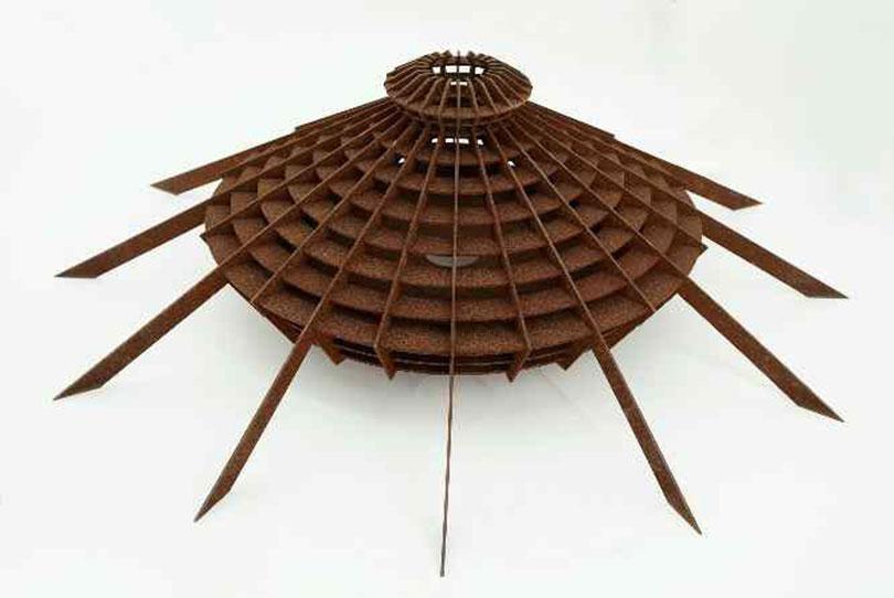 Los Carpinteros, 〈Sala de Lectura Coppelia〉 (prototipo), 2013. Corten Steel 38,4 x 132,1 x 132,1cm ⒸLos Carpinteros ⒸLos Carpinteros Photo: Eduardo Morera Selected by Clara Kim