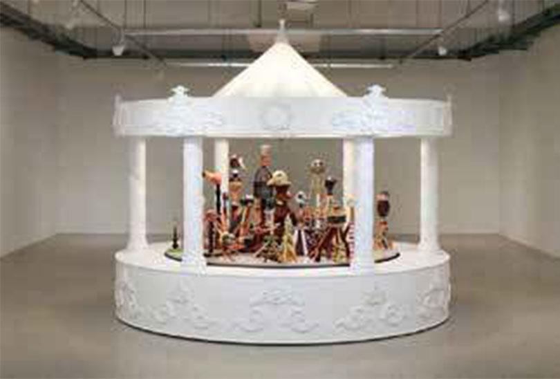 Sunghong Min, 〈Overlapped sensibility Carousel〉, 2017-18. ceramic, mixed media, ⒸSunghong Min Selected by Chong-Ok Paek