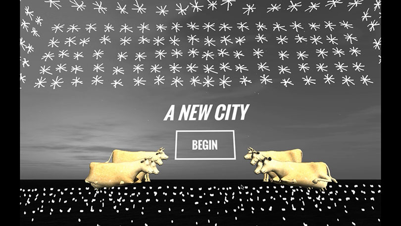 Haitham Ennasr, 〈New City〉, Single channel & VR game, 10min, 2016