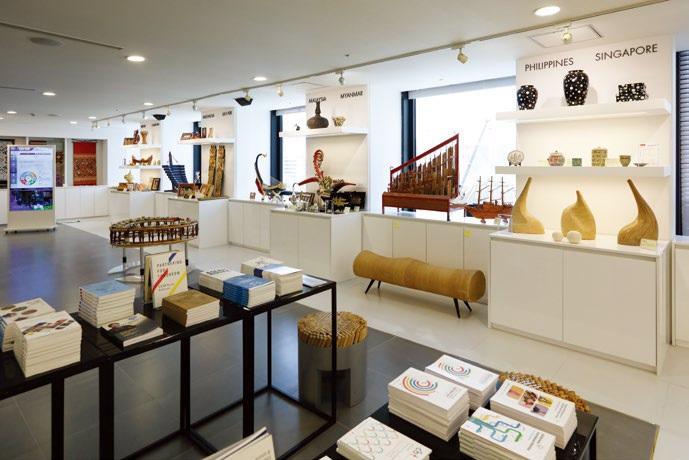 한-아세안 센터 내 아세안홀에 있는 문화전시 공간. 아세안 10개 회원국의 전통과 현대문화를 감상, 체험할 수 있다.