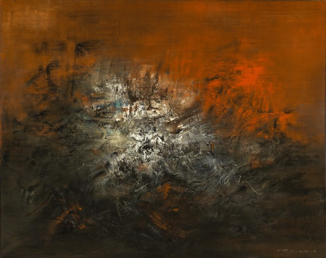 Zao Wou-ki, '14.12.59', 1959, oil on canvas. Image courtesy Christie's Images Ltd.