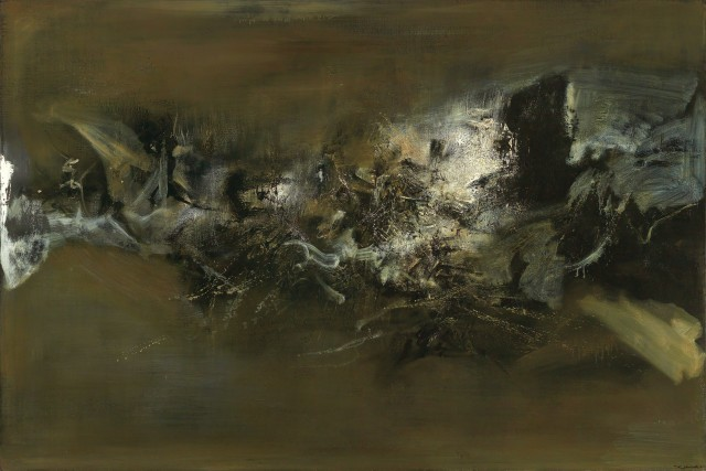 Zao Wou-ki, '10.11.58-30.12.70', 1958-70, oil on canvas. Image courtesy Christie's Images Ltd