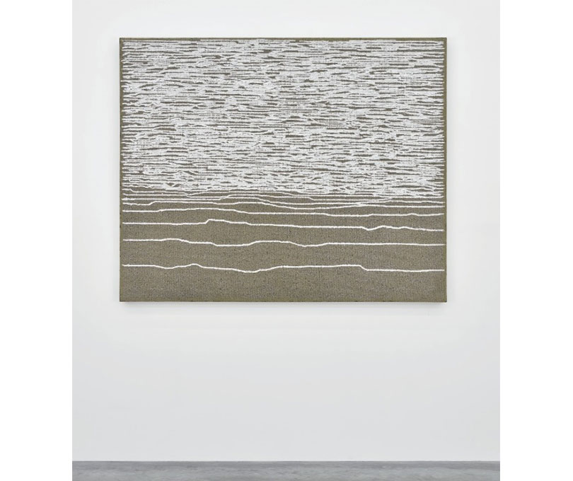 Ha Chong-Hyun, Conjunction 15-161, Oil (2015), Oil on hemp cloth, 130 × 162 cm. Courtesy the artist and Almine Rech Gallery