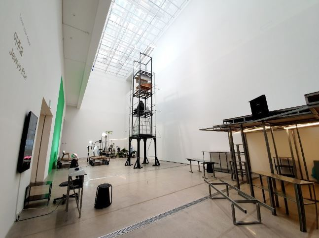 "An installation view of Rhii Jew-yo's ""Love Your Depot"" on display at the National Museum of Modern and Contemporary Art's main branch in Samcheong-dong area, central Seoul (MMCA)"