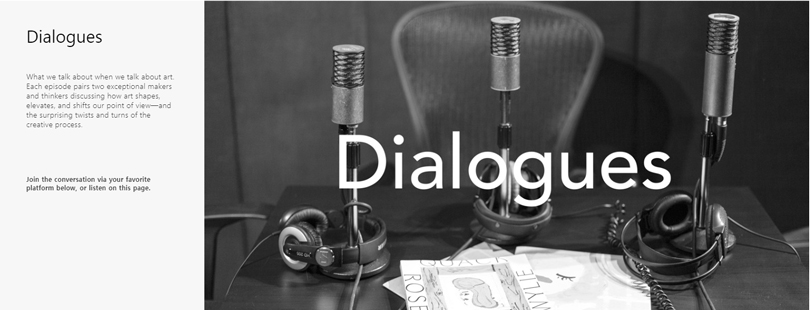 David Zwirner Podcast 'Dialogue'
